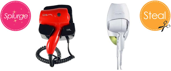 Wall-mounted hair dryers