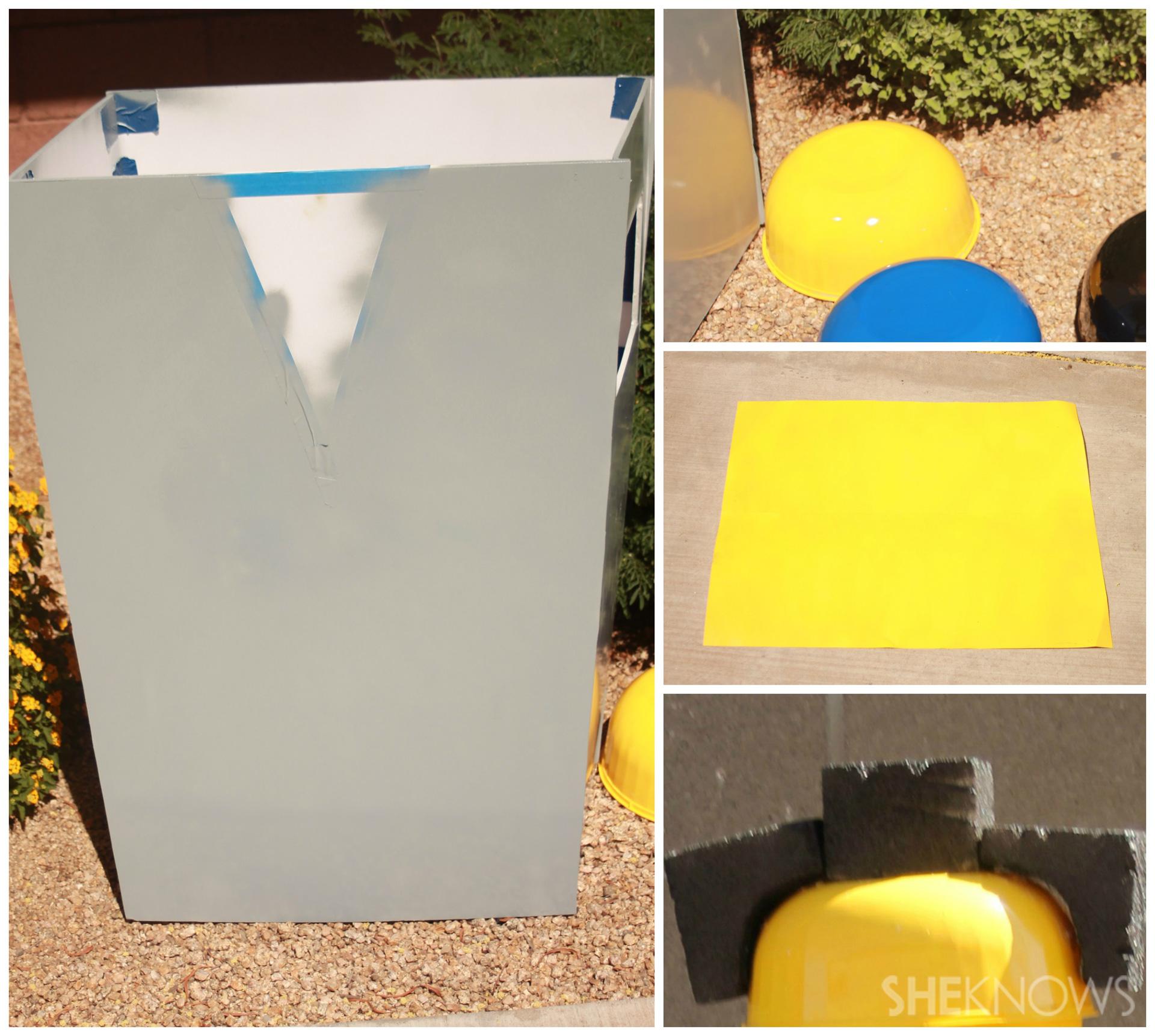 Step 3:Spray paint
