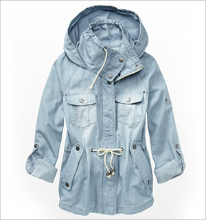 Denim Parka Jacket, Garage Clothing, $79.90
