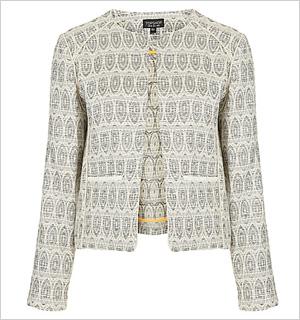 Aztec Boucle Jacket, TOPSHOP at The Bay, $124