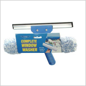 scrubber and squeegee