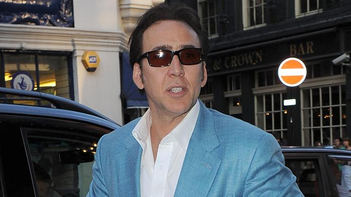 Nicolas Cage leaves the Noël Coward