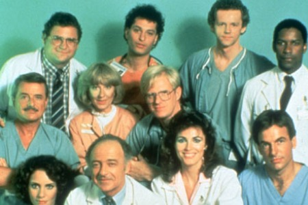 Far right standing up: Yes! That's Denzel Washington in St. Elsewhere!