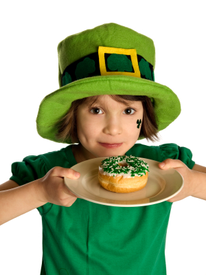 Kid on St. Patrick's Day