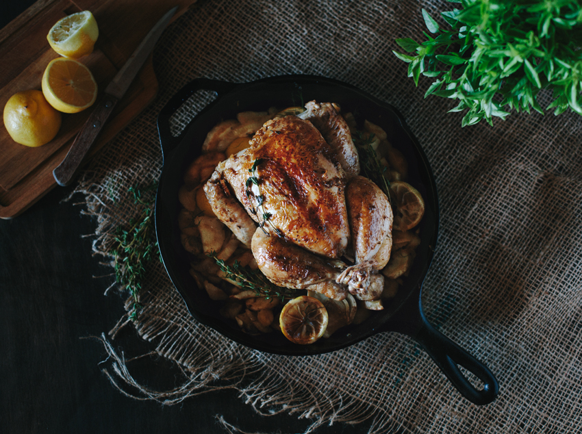 perfect skillet roast chicken