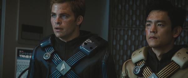 Chris Pine is Kirk and John Cho is Sulu in JJ Abrams' Star Trek