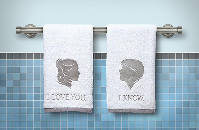han and leia bath towels