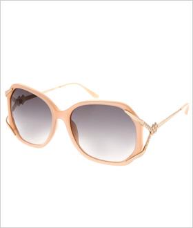Matthew Williamson Milky Peach Rounded Sunglasses, $392.71