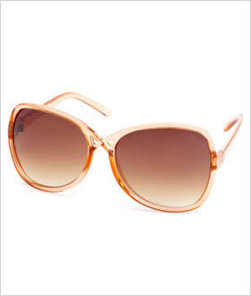 Charlotte Russe Cross-Front Plastic Shades, $5.50