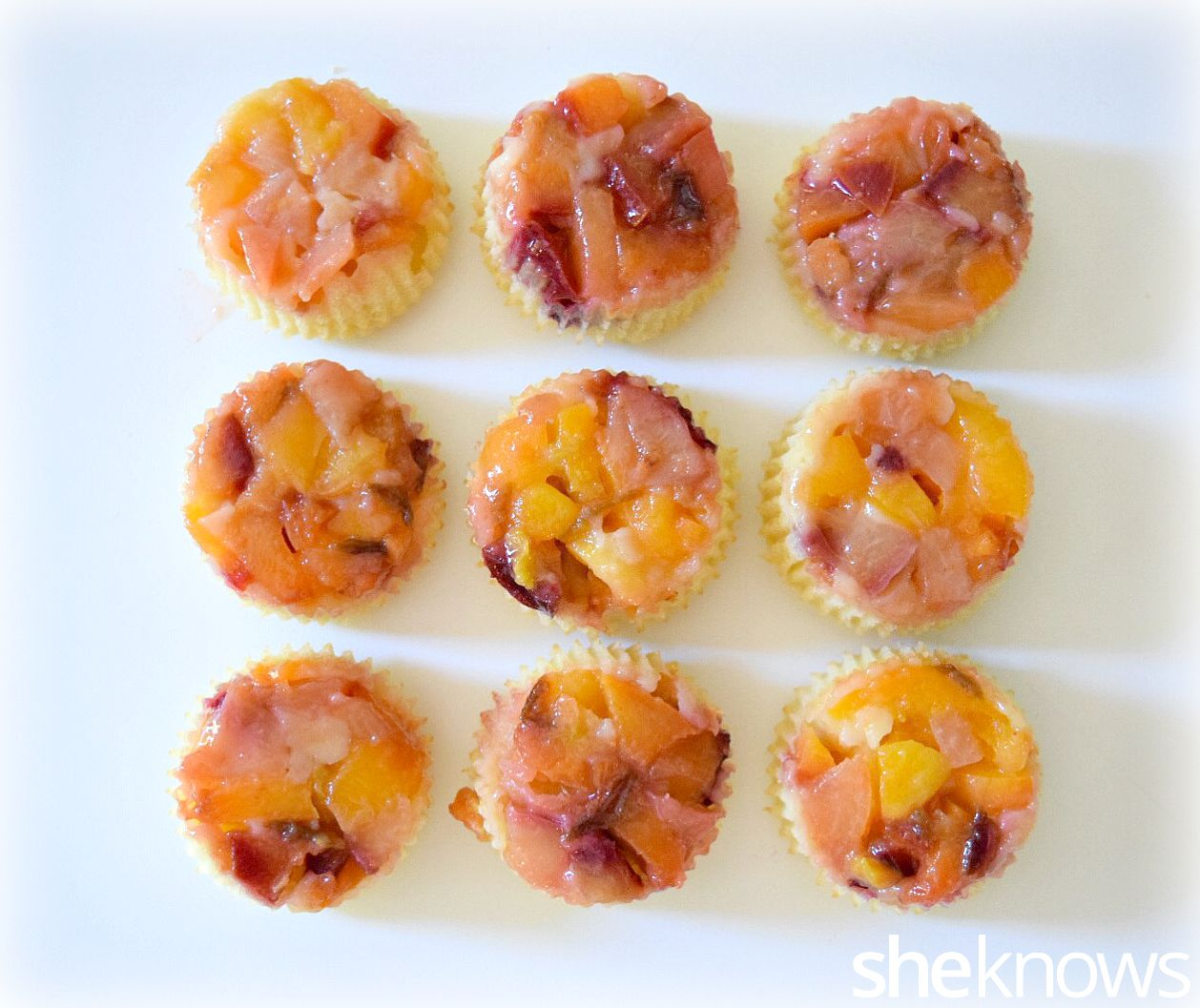 stone fruit upside down cupcakes