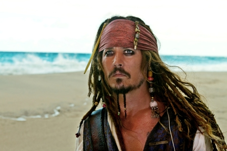 Johnny Depp is Captain Jack Sparrow in Pirates of the Caribbean: On Stranger Tides