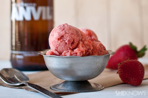 strawberry beer sorbet