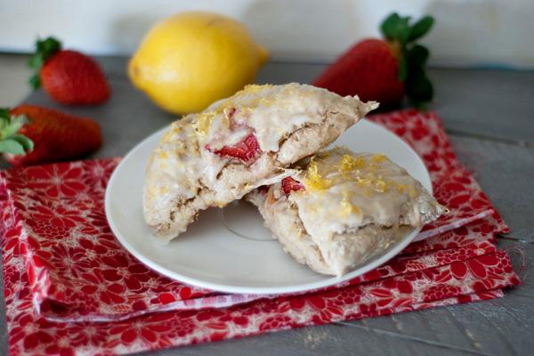 Strawberry lemonade scones recipe
