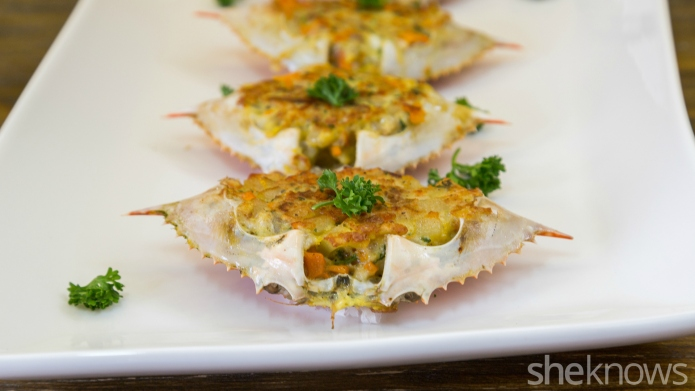 Stuffed crabs might look gourmet, but