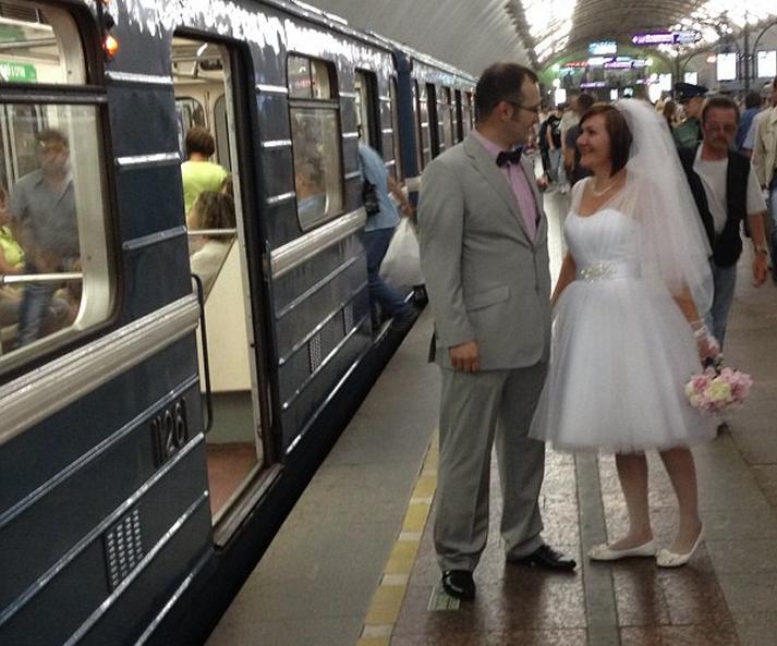 subway wedding
