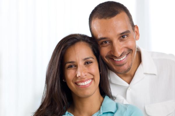 A happy successful couple