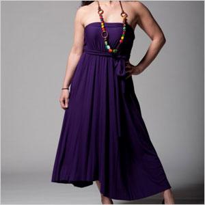 Purple summer jersey dress