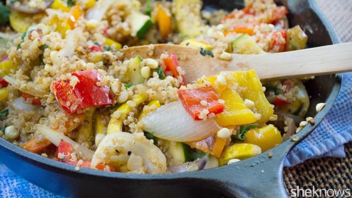 One-Pot Wonder: Quinoa-veggie skillet packed with