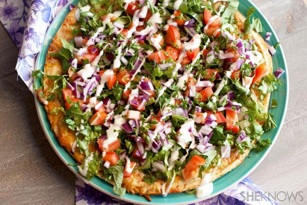 Easy gluten free summer veggie pizza