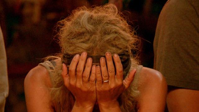 Sunday Burquest at Tribal Council on Survivor: Millennials Vs. Gen-X