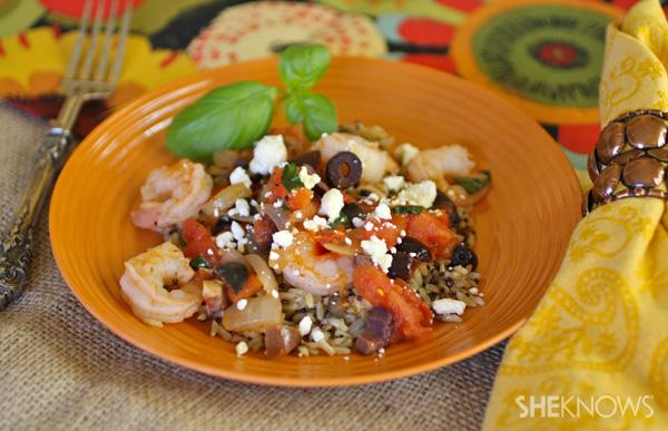 Greek-style shrimp