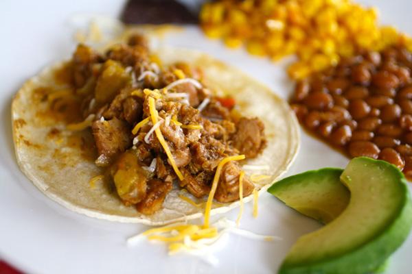 slow cooker pork carnitas taco