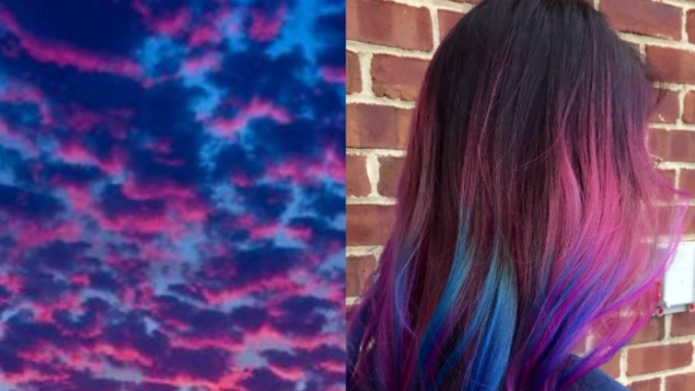 Sunset hair trend is back and