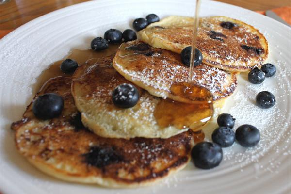 Ultimate blueberry ricotta pancake recipe