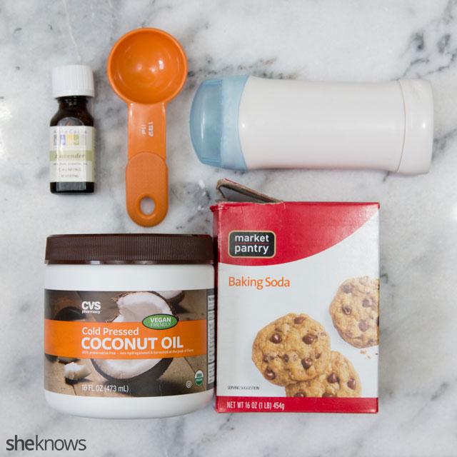 DIY chemical-free deodorant: Supplies