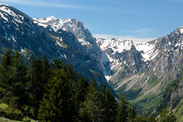Snowy mountains in Montenegro