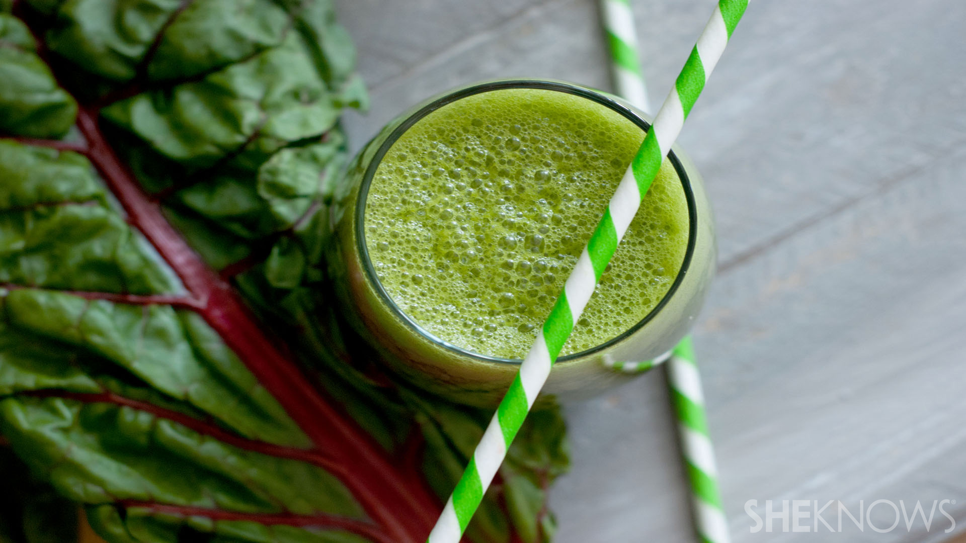 Tropical leafy green smoothie recipe