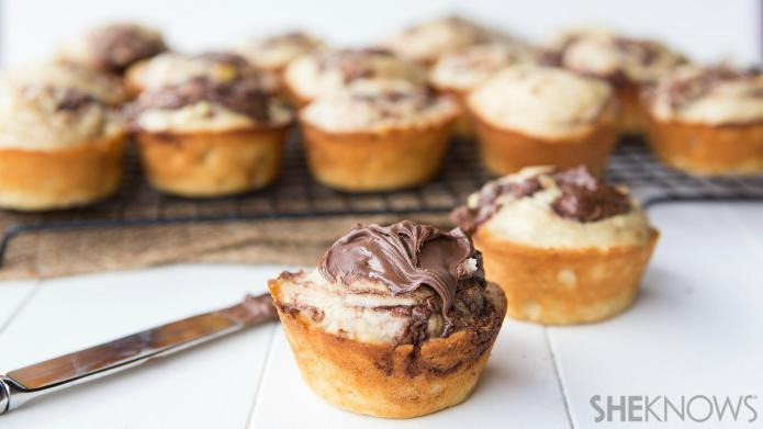 Add Nutella to your morning muffins