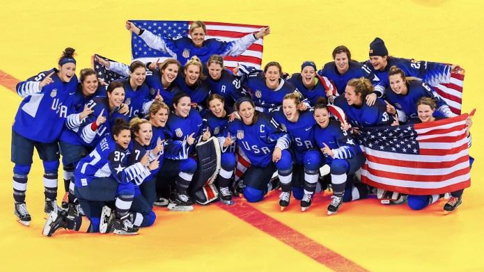 Members of US Women's Hockey Team