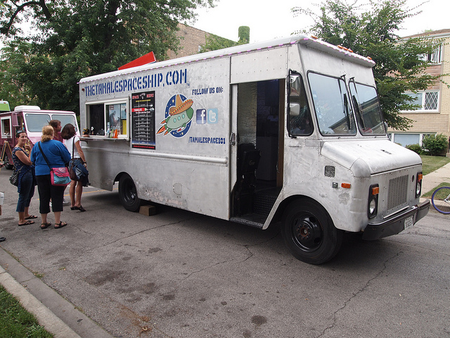 the tamale spaceship food truck