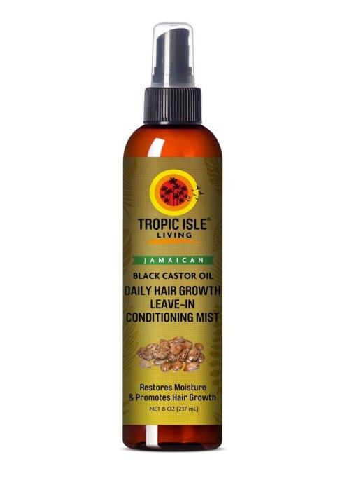 Tropic Isle Living Jamaican Black Castor Oil Daily Hair Growth Leave-In Conditioning Mist