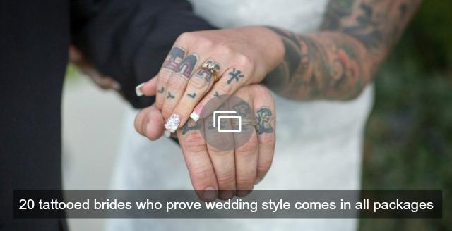Tattooed brides