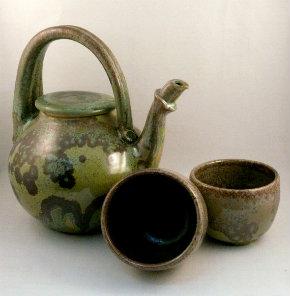 Verdigris teapot