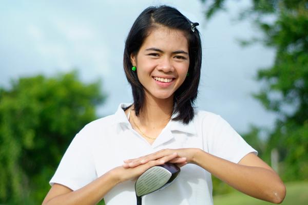 Teen Girl with Golf Club
