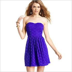 strapless, bustier dress