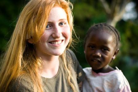 Teen volunteer in Africa