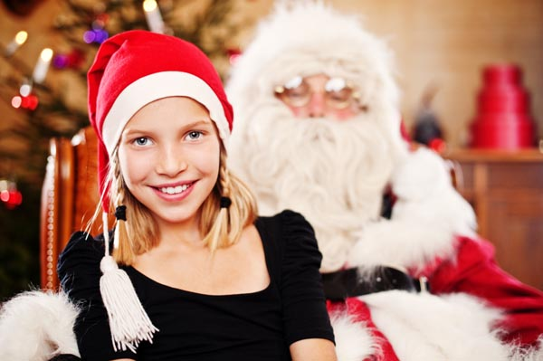 telling child there is no santa