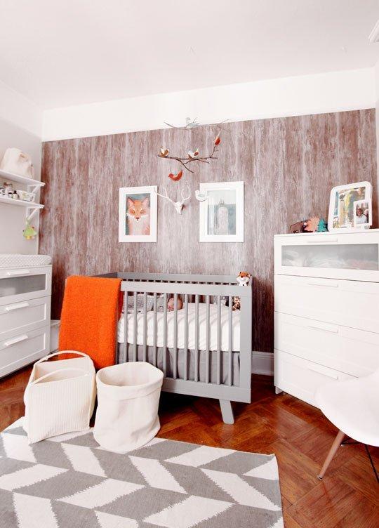 textured neutrals in baby room