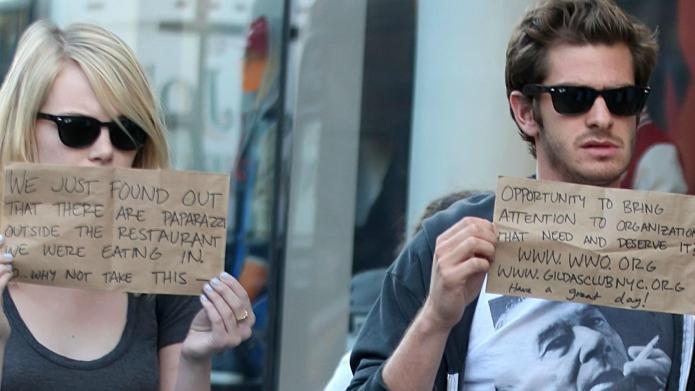 Emma Stone & Andrew Garfield fight