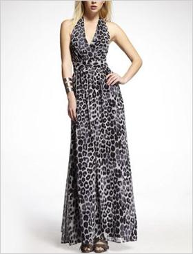 Chiffon Halter Maxi Dress by Express