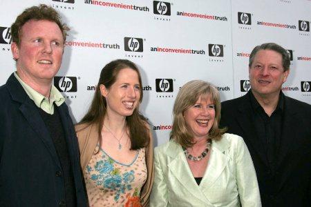Drew Schiff, Karenna Gore, Tipper Gore and Al Gore in happier times
