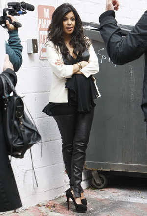 Kourtney Kardashian in high heels