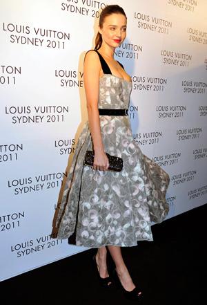Miranda Kerr wearing fifties style dress