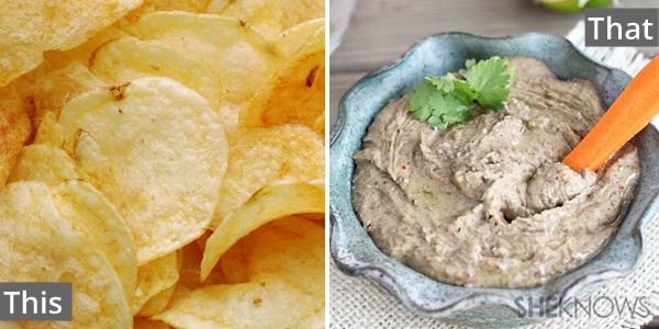 Potato chips for veggies and hummus