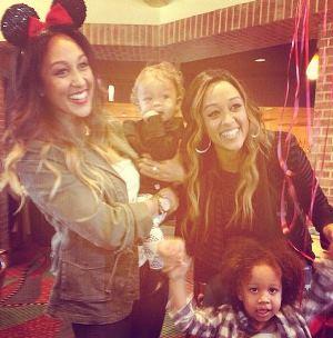 Tamera and Tia Mowry with kids