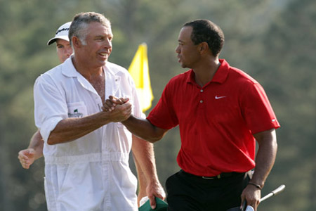 Tiger Woods fired his caddie